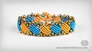 Rectangle Macramé Bracelet Tutorial by Macrame School