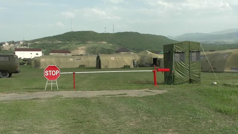 Полевой военный госпиталь в Дагестане готов к приему пациентов