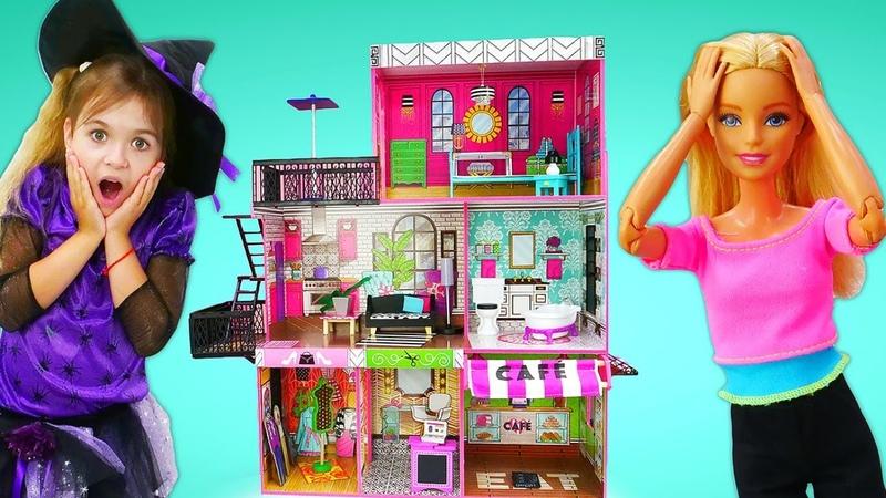 Мебель в новый дом Барби от Волшебницы Юлли. Ролевые игры - мультики для девочек про волшебство
