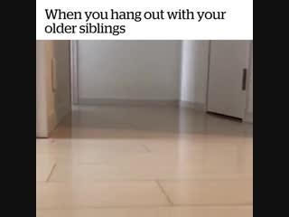 Когда тусишь со старшими братьями