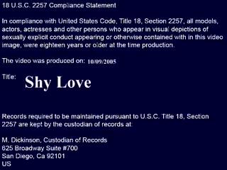 Naughty America: Shy Love