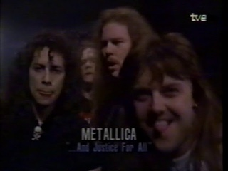 JETHRO TULL Winning announcement Grammy Awards 1989 by Alice Cooper & Lita Ford, feat. METALLICA TV3