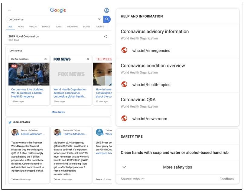 Google ввел SOS-оповещение в запросах, связанных с коронавирусом, изображение №2
