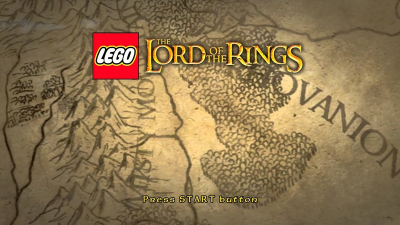 LEGO The Lord of the Rings Title Screen 360 PS3 Wii Vita PC 3DS