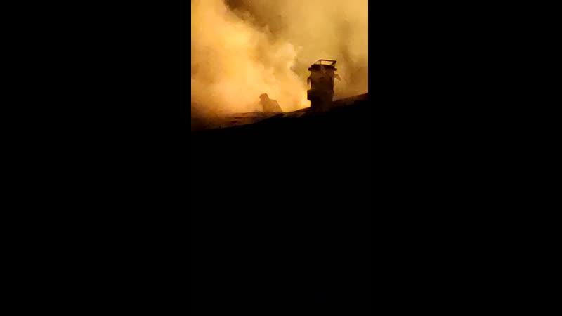 Пожар Зубарева Тюменский район 09 08 2020