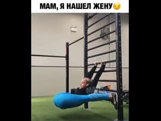 Вот это растяжка Девушка показала супер возможности тела Крутое видео шок упражнение тренировка Спорт мотивация фитоняшки фитнес