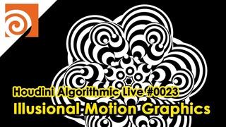 Houdini Algorithmic Live #023 - Illusional Motion Graphics
