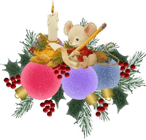 новогодний мышонок гифка напишу