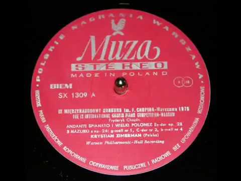 Chopin Krystian Zimerman 1975 Mazurka in B flat minor Op 24 No 4