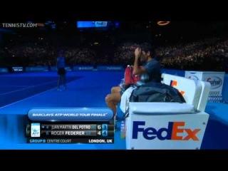 Federer vs Del Potro Barclays ATP World Tour Finals 2013 RR HD Full Match