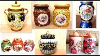 6 Amazing Diy Ideas for recycling jars | Decorating glass jars