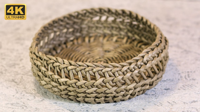 Корзинка в смешанной технике веревочка Burkina Weave