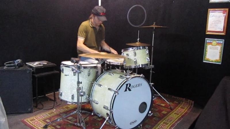Короткое demo звучания Rogers Holiday и Pearl Masters MCX 14x5.5