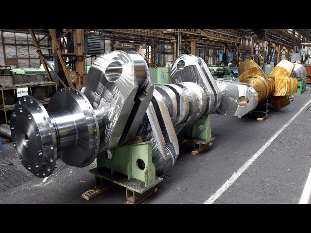 Коленвал для больших двигателей (суда, корабли, карьерный самосвал).
