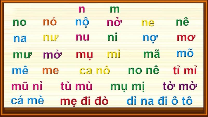 Bài 5 Tập Đánh Vần Tiếng Việt Chữ Cái N N Luyện Đọc Tiếng Việt