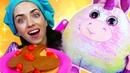Детское видео - Милый Единорог и Блинчики Play Doh! Готовлю игрушкам! Лепим из пластилина Плей До