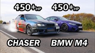 Японский ДЕМОН vs НОВАЯ BMW M4 Competition vs Toyota Chaser 100 1JZ-GTE vs INFINITI Q50S vs BMW 530D