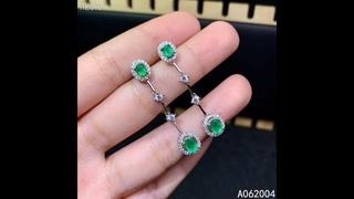 Kjjeaxcmy 925 пробы серебряные украшения, инкрустированные натуральным драгоценным камнем, женские