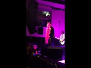 Gerard Way's pink feather boa