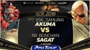 XsK_Samurai (Akuma) vs RB Bonchan (Sagat) - SCR 2018 Top 8 - CPT 2018