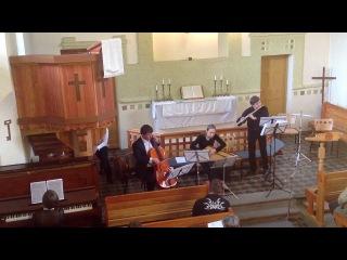 Ян Зак. Соната для флейты, скрипки и basso-continuo до мажор. Gustoso-posato, Andante, Menuet