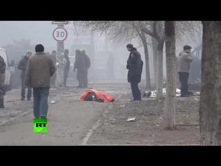 . Обстрел из градов Киевского рынка (в субботний день) в Мариуполе 24 января 2015