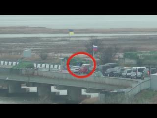 СБУ опубликовала видео задержания дезертиров на админгранице с Крымом ()