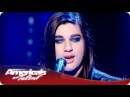 Andrew De Leon Blows The Audience Away With His Falsetto Voice - America's Got Talent Semifinals