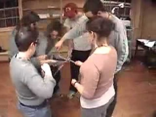 Inhuman Knot -- Duct Tape Teambuilding Game
