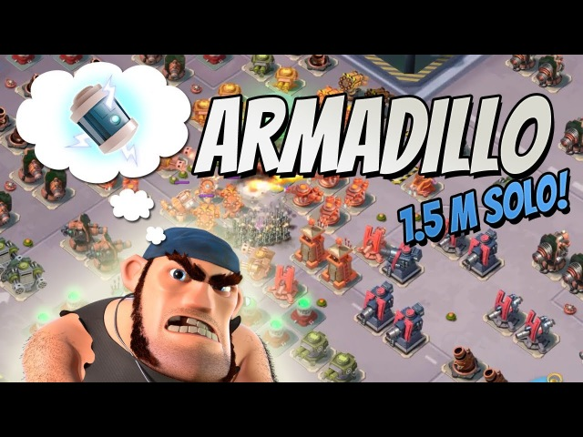 Boom Beach Armadillo solo with Bullit (1.55M Core Health) Deep Cut