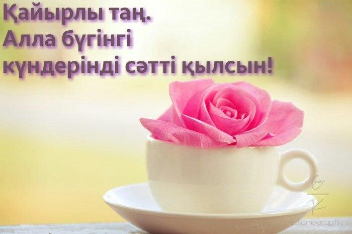 Открытка с добрым утром на казахском языке