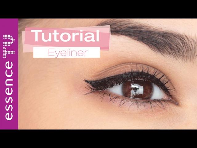 Perfekter lidstrich eyeliner ganz einfach in 5 schritten anfänger l essenceTV