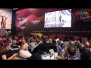 Applaus in de perszaal na het optreden van Loïc Nottet Halve finale Eurovisiesongfestival 2015