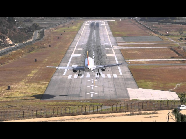 The best extreme approach video of Paro Airport Bhutan Please watch HD and full screen