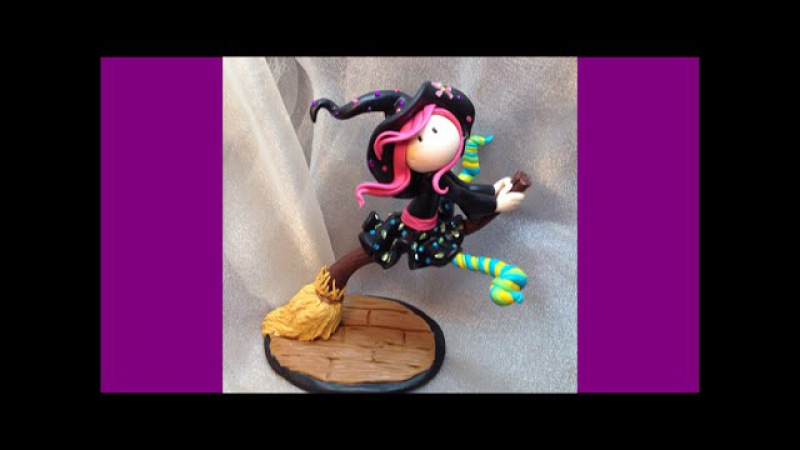 Little witch Bruxinha Polymer clay Fimo