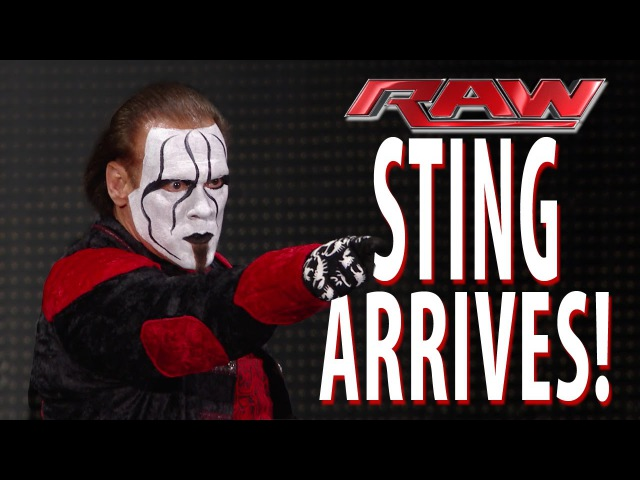 My1 Sting makes a shocking Raw debut Raw January 19 2015