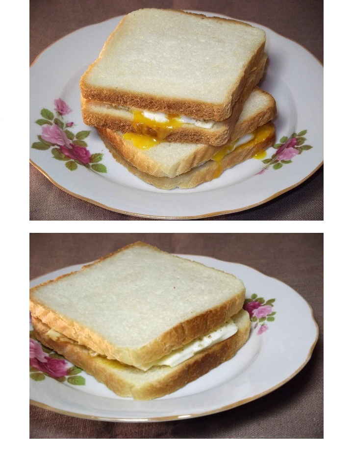 Теплый сэндвич с яйцом и плавленным сыром, изображение №4