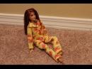 Одежда для кукол Барби. Как сшить пижаму брюки \ How to make pajamas for Barbie dolls, part 1