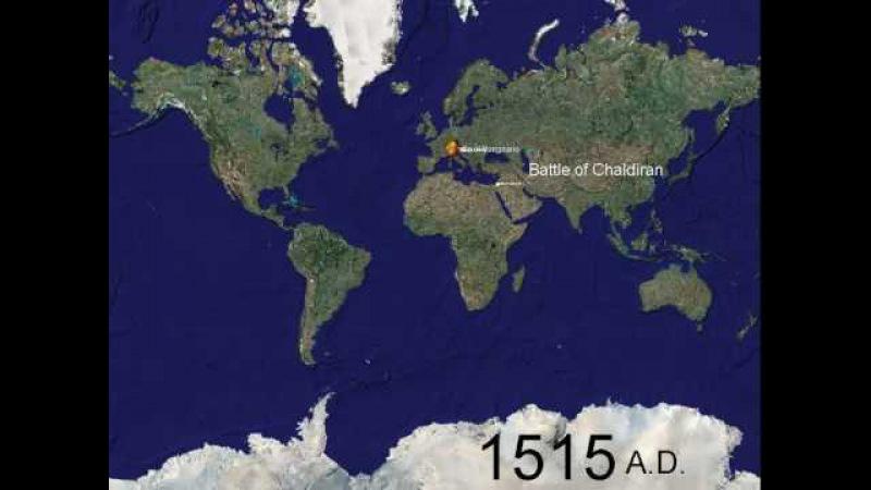 Мир в войнах 1000 лет за 5 минут