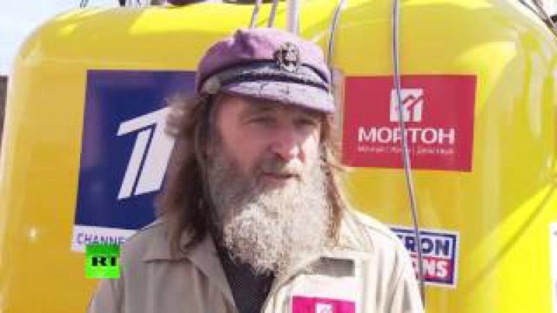 Федор Конюхов показал воздушный шар на котором совершит полет вокруг света