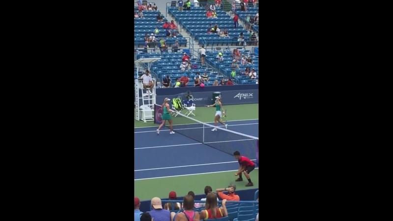 Match point 6-4 6-1 Genie Bouchard 🇨🇦 vs Сarina Witthoeft 🇩🇪 🎾 CincyTennis Q-R1.