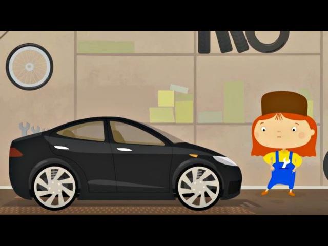 Доктор Маквили и электромобиль. Мультфильм на английском ...