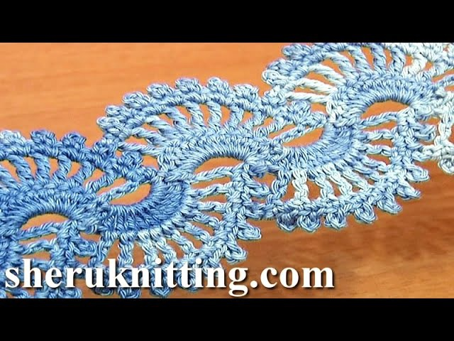 How to Crochet Lace Tape Tutorial 5 part 2 of 2 Motif Point De Dentelle Au Crochet