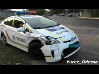 Полиция Одесса - первый разбитый автомобиль