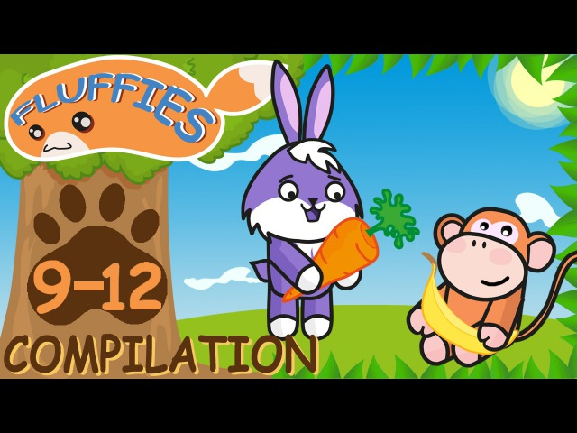 Cartoons for kids. Pig, Cat, Lemur, Crocodile and Panda. Funny Animals. Season 1. Episodes 9-12