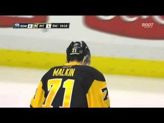 Malkin nets unreal spin o rama past Nilsson | Penguins @ Oilers
