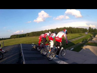 Russia National BMX team in Valmier,.