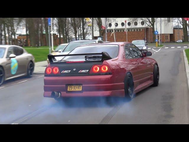 Nissan Skyline R33 GTS-T - Burnout Crazy Sounds!