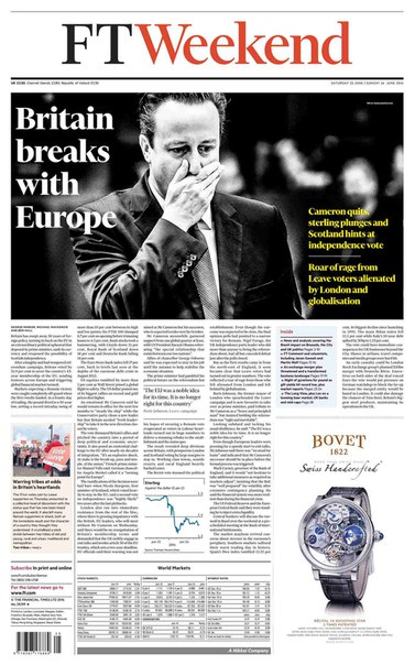 Financial Times Weekend Edition UK  June 25-26 2016