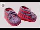 DIY crochet baby sneakersVasilisa